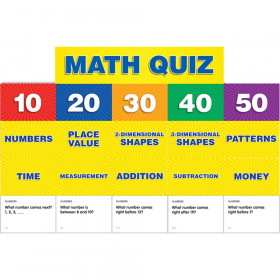 Math Class Quiz Gr K-1 Pocket Chart Add Ons