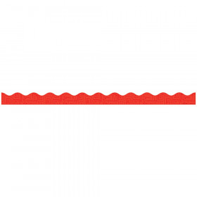 Red Graphic Pattern Scalloped Trimmer Gr Pk-5