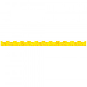 Yellow Graphic Pattern Scalloped Trimmer Gr Pk-5
