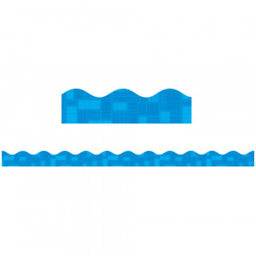 Blue Graphic Pattern Scalloped Trimmer Gr Pk-5