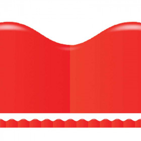 Shades Of Red Scalloped Trimmer