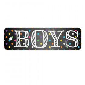 Plastic Hall Pass, Chalkboard Dots Boys Pass