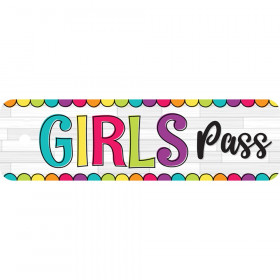 "DIY Dots Girls Plastic Pass, 2.25"" x 7.75"""