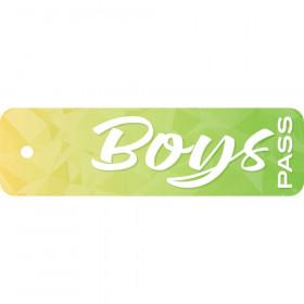 "Geo Abstract Boys Pass, Plastic, 2 1/4"" x 7 3/4"""