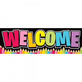 Magnetic Welcome Banner, Neon Black