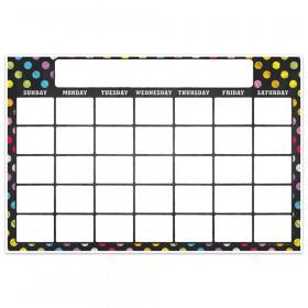 "Magnetic Write & Wipe Calendar Neon Chalk, 12"" x 18"""