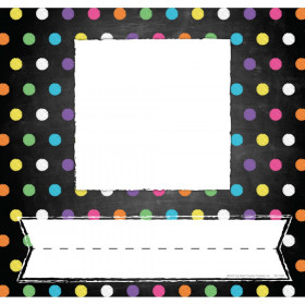 Chalkboard/Dots Picture Plates, Pack of 32