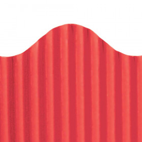 "Trim-Eze Corrugated Border, Red, 2.25"" x 50'"
