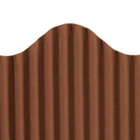 "Trim-Eze Corrugated Border, Brown, 2.25"" x 50'"
