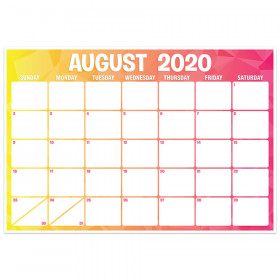 "Geo Abstract Desk Academic Calendar, August-July, 13"" x 19"""