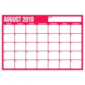 "Six Color Assorted Academic Calendar, August-July, 13"" x 19"""