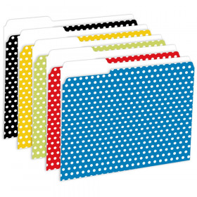Designer File Folders Polka Dot