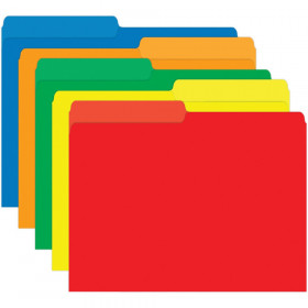 Mini File Folders, Primary Colors, 25/pkg