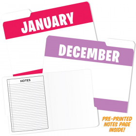 Month Of Year Design File Folders