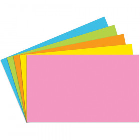 "Index Cards Blank 3"" x 5"", Brite Assorted, Pack of 100"