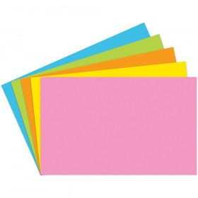 """Index Cards Blank 5"""" x 8"""", Brite Assorted, Pack of 100"""