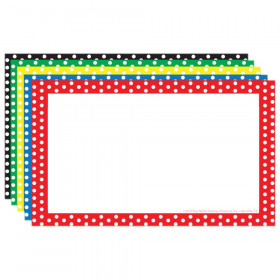"Border Index Cards, 3"" x 5"" Blank, Polka Dot, 75ct"