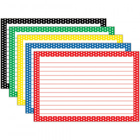 Border Index Cards 4X6 Polka Dot Lined