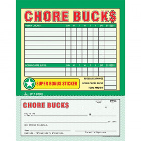 Chore Bucks, 26 Sheets Per Pad