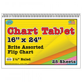 Chart Tablets 16X24 Assorted 1 1/2 Inch Ruled