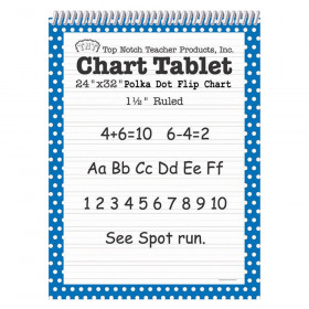"Chart Tablet, 24"" x 32"", 1-1/2"" Ruled, Blue Polka Dot, 25 Sheets"