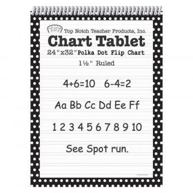 Polka Dot Chart Tablet Black 1.5 Ruled