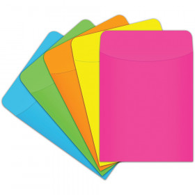 Brite Pockets, Assorted Colors, Pack of 500