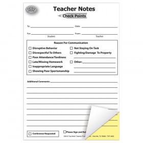 "Check Points Teacher Notes, 5-1/2"" x 7-1/2"", Carbonless Notes"