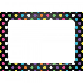Chalkboard Dots Name Tags/Labels, Pack of 32