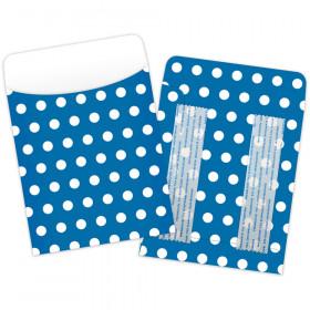 Brite Pockets Blu Polka Dots 25/Bag Peel & Stick