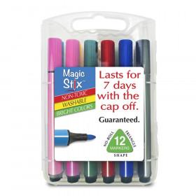 Triangular Magic Stix Markers, 12 Pack