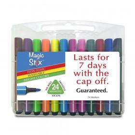 Triangular Magic Stix Markers, 24 Pack