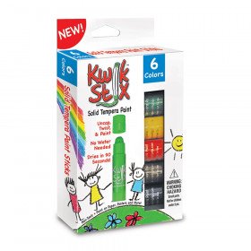 Kwik Stix Tempera Paint - 6 Primary Colors