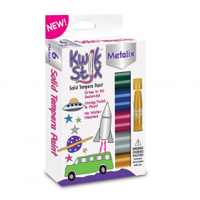 Kwik Stix Solid Paint Metallic Colors 6ct
