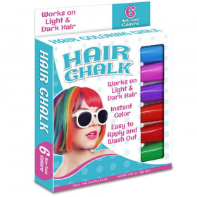 Hair Coloring Chalk, 6 Colors
