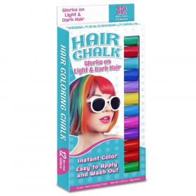 Hair Coloring Chalk, 12 Colors