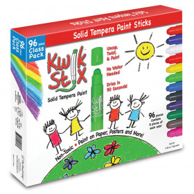 Solid Tempera Paint Stick, Classic Colors, Class Pack of 96
