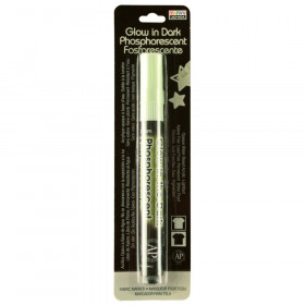 Deco Fabric Glow in the Dark Fabric Marker, Green