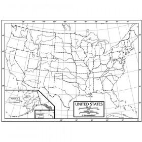 Outline Map Study Pads, U.S.