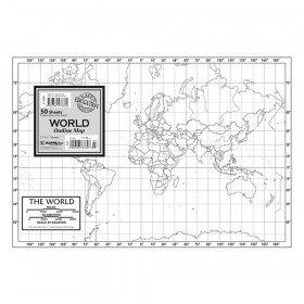 Outline Map Study Pads, World