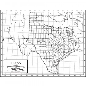 Outline Map Laminated Texas