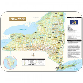 Shaded Relief Map Rolled New York