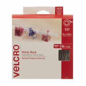 """Velcro Sticky Back Tape, 3/4"""" x 5 yds, White"""
