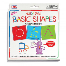 Wikki Stix Basic Shapes Cards Kit, 10 Cards/72 Wikki Stix