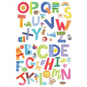 Alphabet Fun Vinyl Decals, 52 Pieces