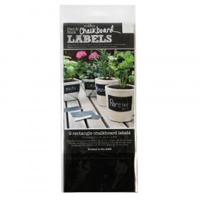 Rectangle Chalkboard Vinyl Labels, 9 Pieces