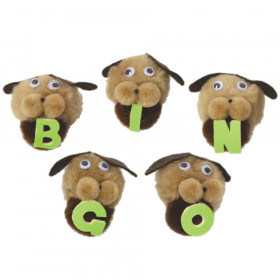 Bingo Dogs Monkey Mitt Set, 5 characters