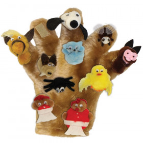 There Was an Old Lady Who Swallowed a Fly Character Monkey Mitt Set