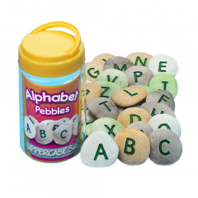 Uppercase Alphabet Pebbles, Set of 26