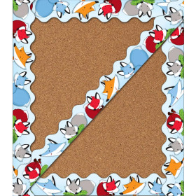 Playful Foxes Scalloped Borders